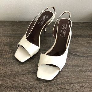 Donald  J Pliner white Sandals